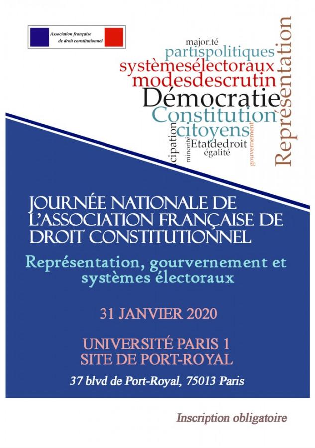 Evénement : journée nationale de l'AFDC consacrée aux systèmes électoraux (31 janv., Paris 1) !