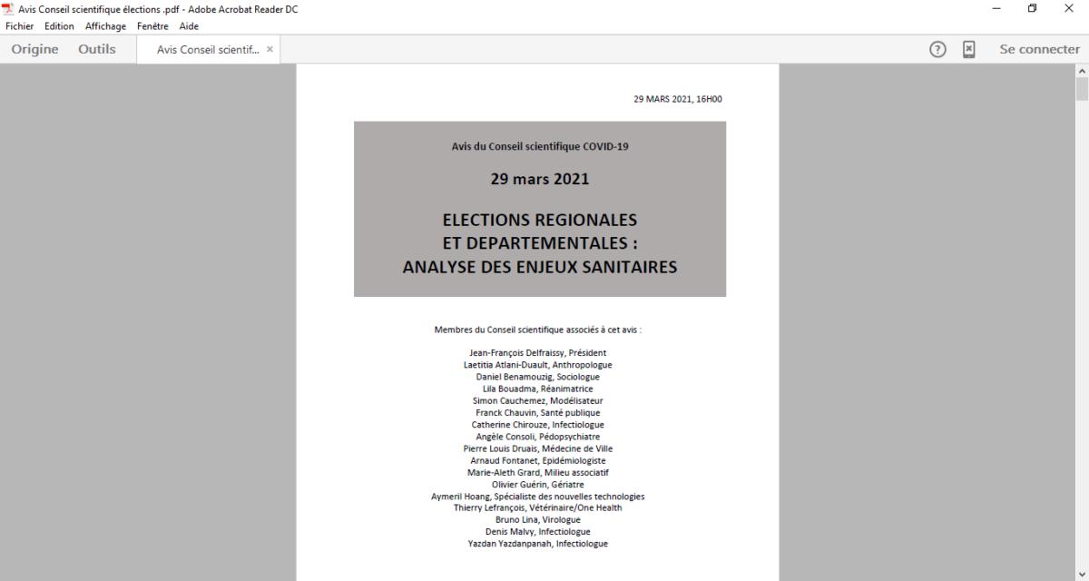 Elections de juin : le conseil scientifique renvoie la balle aux pouvoirs publics et regrette l'absence de vote par correspondance et de vote anticipé… [R. Rambaud]